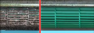 Чисты и грязный вентилятор в кондиционере